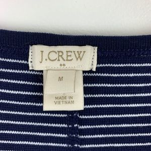 J. Crew Factory Dresses - J Crew Sleeveless Knit Dress Blue White Striped M
